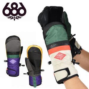 手袋 686 SIX EIGHT SIX シックスエイトシックス RECON MITT GLOVE メンズミトン グローブ スノボ スノーボード L8WGLV09 2018-2019冬新作 得割20|elephant