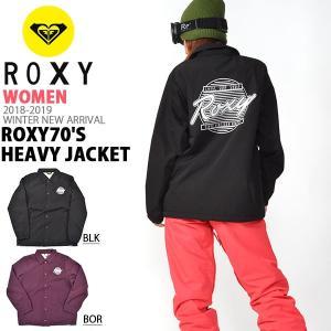 コーチジャケット ROXY ロキシー レディース ROXY70'S Heavy Jacket ナイロンジャケット 防風 撥水 スノーボード スノボ 2018-2019冬新作 18-19 30%off|elephant