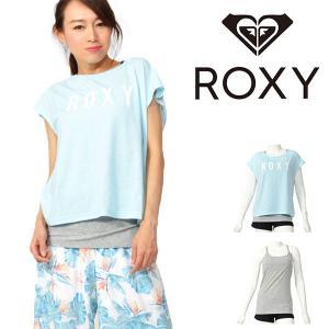 キャミソール Tシャツ 2枚セット ロキシー ROXY レディース MEET UP キャミ 速乾 UVカット トップス プール 海 2019春夏新作 10%off elephant