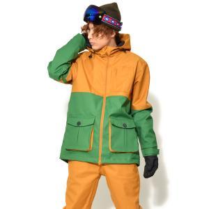 送料無料 スノーボードウェア ジャケット メンズ バイカラー 切り替え 2トーン ストレッチ スノーボード ウェア スノボ SNOWBOARD JACKET 17-18 2017-2018冬新作|elephant