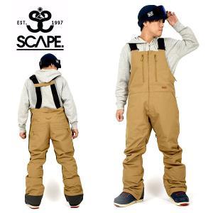 予約販売 11月頃発送予定 スノーボードウェア SCAPE エスケープ BIB PANTS メンズ パンツ ビブパンツ スノボ 2019-2020冬新作 10%off|elephant