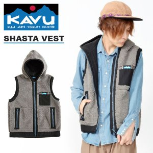フリース ベスト KAVU カブー Shasta Vest シャスタベスト フード メンズ  アウトドア キャンプ   送料無料 得割25|elephant