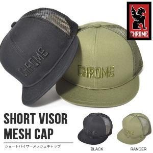 キャップ CHROME クローム SHORT VISOR MESH CAP 帽子 CAP メッシュキャップ ピスト バイク スケボー メッセンジャー 2018春夏新作|elephant