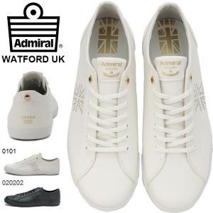 スニーカー アドミラル Admiral ワトフォード WATFORD UK メンズ レディース 定番 ローカット シューズ 靴 ホワイト ブラック 白 黒 SJAD1807 送料無料|elephant