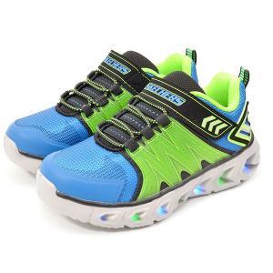 スケッチャーズ 光る靴 キッズ スニーカー SKECHERS エスライツ ヒプノ フラッシュ 2.0 スリッポン シューズ 靴 ベルクロ 90585L|エレファントSPORTS PayPayモール店