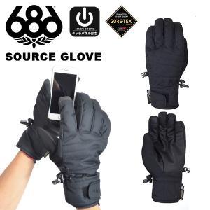 手袋 686 SIX EIGHT SIX シックスエイトシックス GORE-TEX SOURCE GLOVE メンズ グローブ スノボ スノーボード L8WGLV03 2018-2019冬新作 得割20|elephant