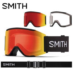 スノーゴーグル SMITH スミス Squad MAG スカッド マグ レッド クロマポップ 調光 ...