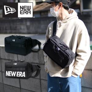 スクエアウエストバッグ NEW ERA ニューエラ ロゴ 約7L ポーチ ボディバッグ ショルダーポーチ メッセンジャー 斜め掛け カバン 鞄 20%off|エレファントSPORTS PayPayモール店