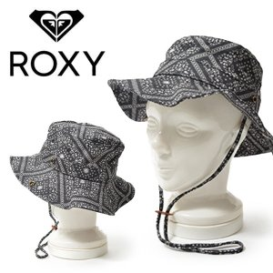 サファリハット ROXY ロキシー キッズ ジュニア 子供 ストラップ付き あご紐 帽子 サーフ アウトドア 通学 水あそび 熱中症対策 2018春夏新作 30%off|elephant