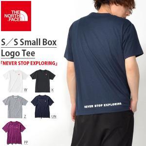 半袖Tシャツ THE NORTH FACE ザ・ノースフェイス メンズ 赤ロゴ ショートスリーブスモールボックスロゴティー 2018春夏新作 nt31848 速乾