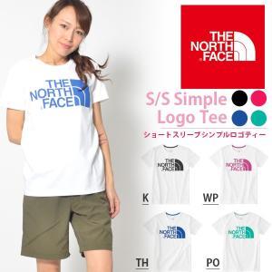半袖Tシャツ THE NORTH FACE ザ・ノースフェイス レディース ビッグ ロゴ ショートスリーブシンプルロゴティー 2018春夏新作 ntw31849 速乾|elephant