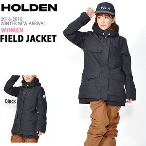 スノーボードウェア HOLDEN ホールデン WS M-65 FIELD JACKET フィールド ジャケット レディース ブラック スノボ スノーボード 2018-2019冬新作 得割20|elephant