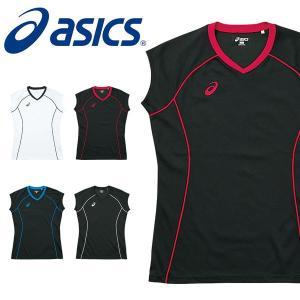 asics(アシックス)W'SプラシャツFS   シンプルなデザインのフレンチスリーブのプラクティス...