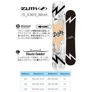 ZUMA ツマ スノーボード メンズ 3点セット 板 ボード バインディング ブーツ JOKER white 150 158 スノボ キャンバー 2018-2019冬新作 送料無料|elephant|02