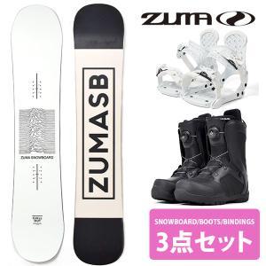ZUMA ツマ スノーボード メンズ 3点セット 板 ボード バインディング ブーツ DEEPFRIED 150 スノボ フラット ロッカー 2018-2019冬新作 送料無料