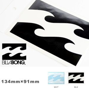 ゆうパケット対応可能!ステッカー ビラボン BILLABONG 134mm×91mm ロゴ シール スノーボード スケートボード サーフボード elephantsports