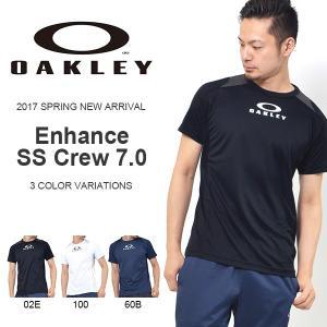 半袖Tシャツ OAKLEY オークリー メンズ Enhance SS Crew 7.0 ロゴTシャツ トレーニング スポーツウェア 2017春夏新作