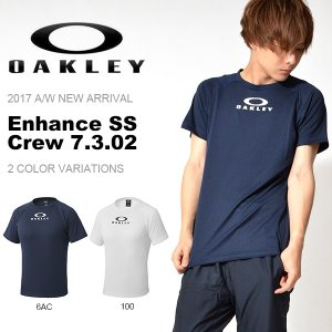 半袖Tシャツ OAKLEY オークリー メンズ Enhance SS Crew 7.3.02 トレーニング スポーツウェア 日本正規品 2017秋冬新作 elephantsports