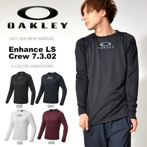 長袖Tシャツ OAKLEY オークリー メンズ Enhance LS Crew 7.3.02 トレーニング スポーツウェア 日本正規品 2017秋冬新作 elephantsports