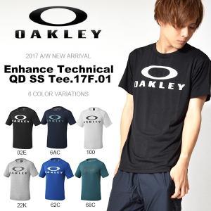 半袖Tシャツ OAKLEY オークリー メンズ Enhance Technical QD SS Tee.17F.01 ロゴTシャツ トレーニング スポーツウェア 日本正規品 2017秋冬新作 elephantsports
