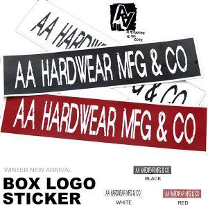 ゆうパケット対応可能! ステッカー AA HARDWEAR ダブルエー ハードウェア STICKER ロゴ スノボ スノーボード スノーウェア elephantsports