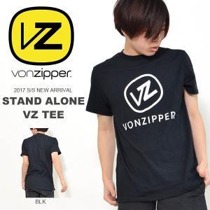 ネコポス対応! ボンジッパー VONZIPPER 半袖 Tシャツ メンズ STAND ALONE VZ TEE サーフィン 海 ビーチ 2017春夏新作 20%off elephantsports