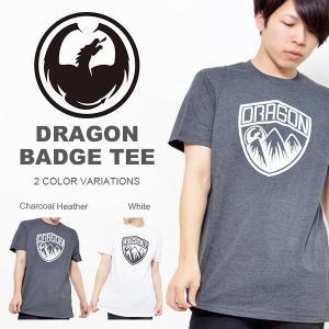 半袖 Tシャツ DRAGON ドラゴン メンズ Tシャツ BADGE TEE カジュアル ロゴ インナー ギア スノボ 2017春新作 日本正規品 スノーボード 得割30 elephantsports
