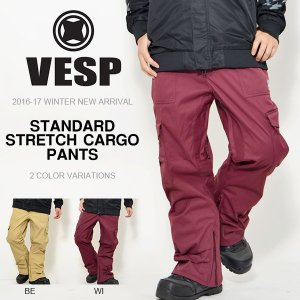スノーボードウェア VESP ベスプ STANDARD STRETCH CARGO PANTS メンズ BBMP16-01 パンツ  ボトムス 25%off|elephantsports