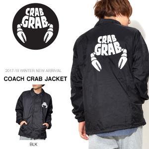コーチジャケット クラブグラブ CRAB GRAB メンズ COACH CRAB JACKET ナイロンジャケット スケート スノボ 2017-2018冬新作 スノーボード 17-18|elephantsports