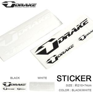 ゆうパケット対応可能! ステッカー DRAKE ドレイク STICKER LOGO SET WHITE BLACK ホワイト ブラック 210×74mm カッティングシート スノーボード スノボ elephantsports