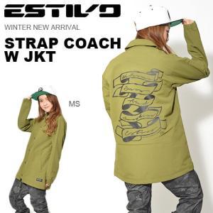 スノーボードウェア エスティボ ESTIVO STRAP COACH W JKT コーチジャケット レディース スノボ スノーボード スキー 2017-2018冬新作 送料無料|elephantsports