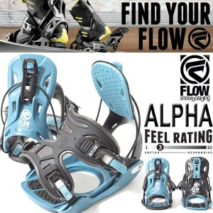 バインディング FLOW フロー メンズ スノーボード ビンディング ALPHA アルファ BINDING 紳士用 スノボ 2017-2018冬新作 17-18 得割20|elephantsports