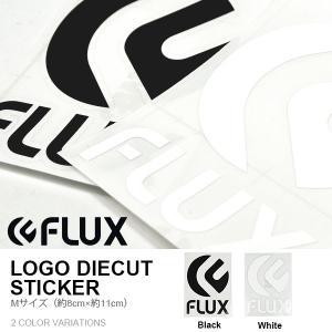ゆうパケット対応可能! ステッカー FLUX フラックス 80mm×110mm Mサイズ ロゴ シール  スキー|elephantsports