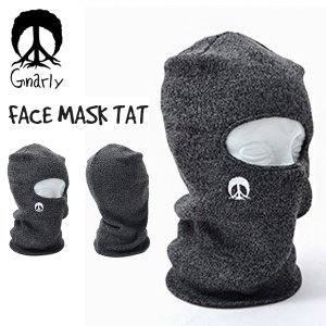 フェイスマスク  帽子 ナーリー GNARLY FACEMASK TAT バラクラバ スノーボード  スノー スケート 国内正規品|elephantsports