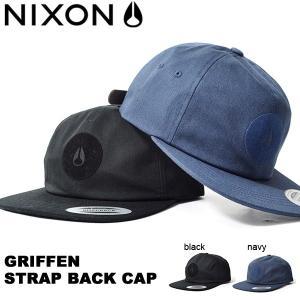 キャップ NIXON ニクソン 帽子 GRIFFEN STRAP BACK CAP スケート ぼうし...