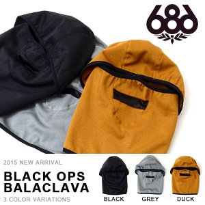 バラクラバ 686 SIX EIGHT SIX シックスエイトシックス BLACK OPS BALACLAVA  スノーボード フェイスマスク スキー 目だし帽 得割30|elephantsports