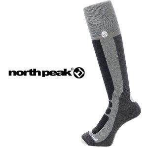 ロング ソックス ノンスリップタイプ メリノウール使用 ハイソックス メンズ レディース ノースピーク north peak スキー スノーボード スノボ  靴下  得割20|elephantsports