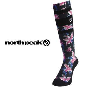 得割18 ロングソックス ハイソックス サーモライト 保温 レディース ノースピーク north peak スキー スノーボード スノボ アウトドア 靴下 防寒|elephantsports