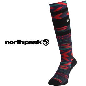 ロングソックス ハイソックス DESIGN SOCKS サーモライト 保温 ノースピーク north peak スキー スノーボード スノボ アウトドア 靴下 防寒 得割18|elephantsports