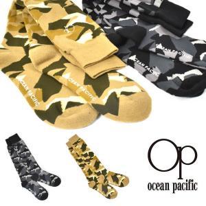 スノーソックス オーシャンパシフィック Ocean Pacific OP メンズ カモフラ 迷彩柄 靴下 防寒 スノボ スキー 549782 2019-2020冬新作 19-20|elephantsports