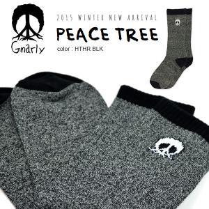靴下 ソックス くつした ナーリー GNARLY PEACE TREE スノーボード メンズ 紳士  国内正規品|elephantsports