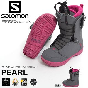 SALOMON サロモン スノーボード ブーツ クイックレース システム PEARL パール レディース スノボ 2017-2018冬新作 17-18|elephantsports