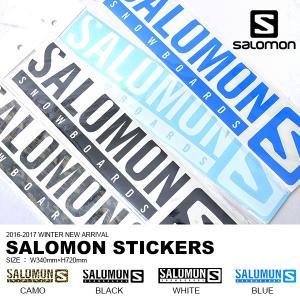 SALOMON サロモン STICKERS ステッカー スノーボード Lサイズ ロゴ LOGO カッティング シール  国内正規品