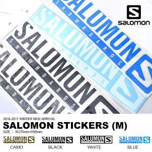 ゆうパケット対応可能! SALOMON サロモン STICKERS ステッカー スノーボード Mサイズ ロゴ LOGO カッティング シール  国内正規品 elephantsports