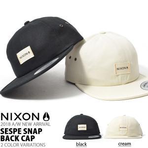 キャップ NIXON ニクソン 帽子 SESPE SNAP BACK CAP スケート ぼうし スナ...