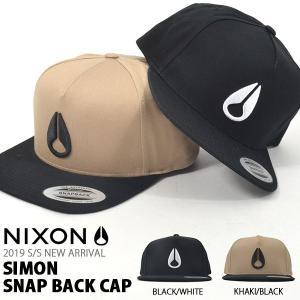 ベースボールキャップ NIXON ニクソン SIMON SNAP BACK 帽子 CAP メンズ レ...