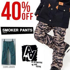 スノーボードウェア パンツ AA HARDWEAR ダブルエー ハードウェア SMOKER PANTS メンズ パンツ SLIM FIT ボトムス 30%off|elephantsports