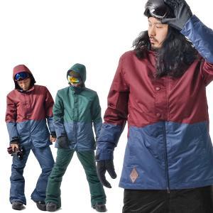 処分品 スノーボード ウェア メンズ バイカラー 切り替え 2トーン ジャケット スノーウエア SNOWBOARD
