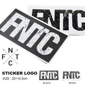 ゆうパケット対応可能! ステッカー FNTC エフエヌティシー STICKER LOGO WHITE BLACK ホワイト ブラック 20×10.5cm カッティングシート スノーボード スノボ elephantsports