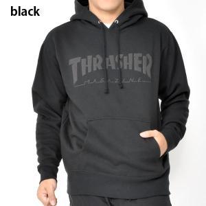 長袖 パーカー THRASHER スラッシャー メンズ FOAMING HOMETOWN HOODIE ブラック 黒 プルオーバー フーディー 2019秋冬新作 30%off|elephantsports|02